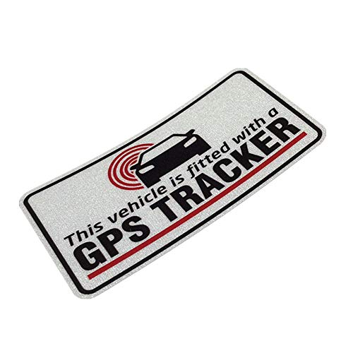 (Langersun 2PCS Car Sticker Decals Waterproof Vehicle Fitted with GPS Tracker Motorbike Bumper 10x5cm)