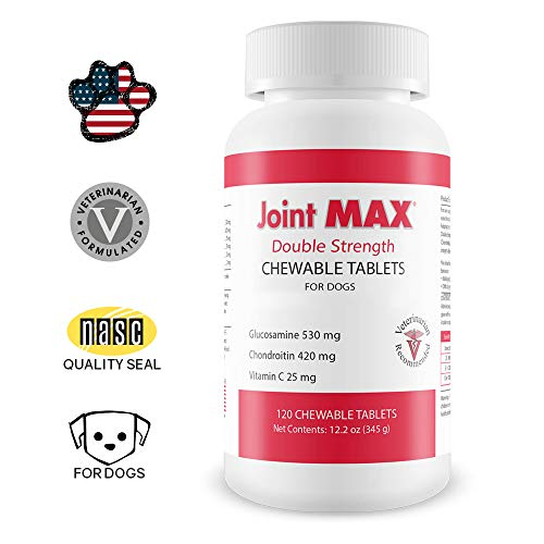 Pet Health Solutions Joint MAX Double Strength (DS) Chewable Tablets for Dogs, Glucosamine, Chondroitin, Vitamins and Antioxidants, Hip and Joint Pain Relief and Support Supplement - Made in USA, 120 Tablets