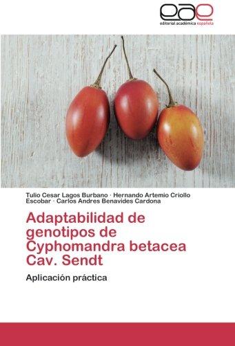 Descargar Libro Adaptabilidad De Genotipos De Cyphomandra Betacea Cav. Sendt Lagos Burbano Tulio Cesar