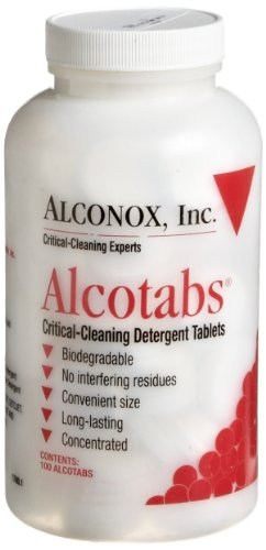 Alconox 1500 Alcotabs Critical Cleaning Detergent Tablet, 100 Tablet Bottle (Case of 6) by Alconox (Image #1)