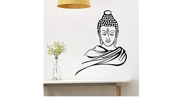 yaonuli Pegatinas de Pared de Vinilo de Buda Negro clásico ...