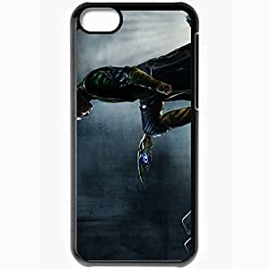 Personalized iPhone 5C Cell phone Case/Cover Skin Art The Avengers Man Metal Grating Staff Black