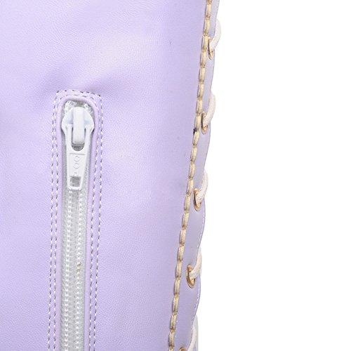 1TO9 Púrpura mujer caña alta Para De 7w7YHqU
