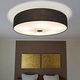 Qazqa Design Modern Deckenleuchte Deckenlampe Lampe Leuchte Drum Mit