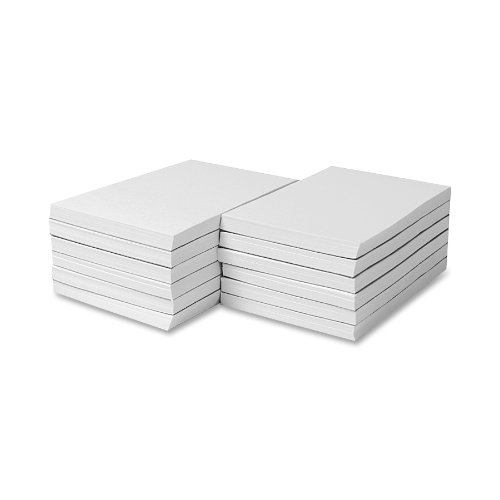 Sparco Memorandum Pads, Plain, 16 lb., 3 x 5 Inches, 100 Sheets, White- 12 Pads