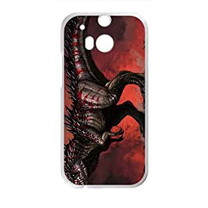 Happy Scary Creative Dinosaur Custom Protective Hard Phone Cae For HTC One M8