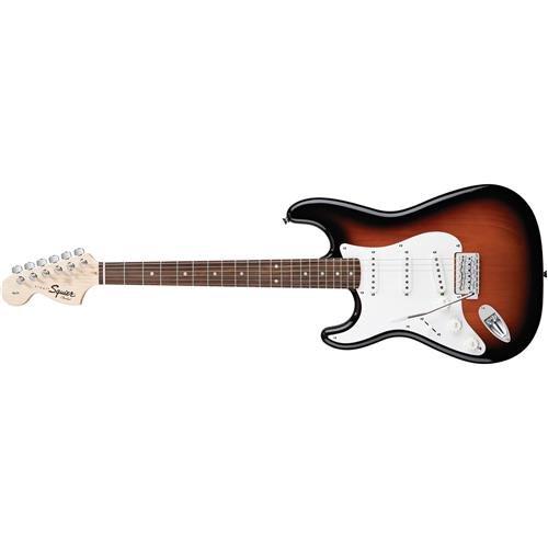 Squier by Fender Affinity Stratocaster Beginner Electric Guitar - Left Handed - Rosewood Fingerboard, Brown Sunburst