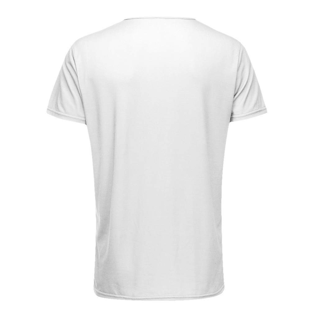 Yunisu Fashion Men Summer Muscle Flower Print Short Sleeve O-Neck T-Shirt Tops Blouses