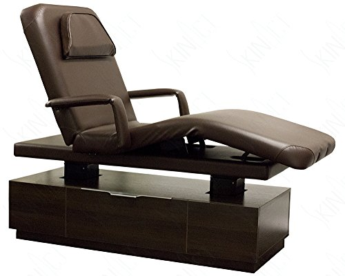 Hilux Spa Electric Treatment Table for Facial or Massage By Skin Act (Dark Brown)