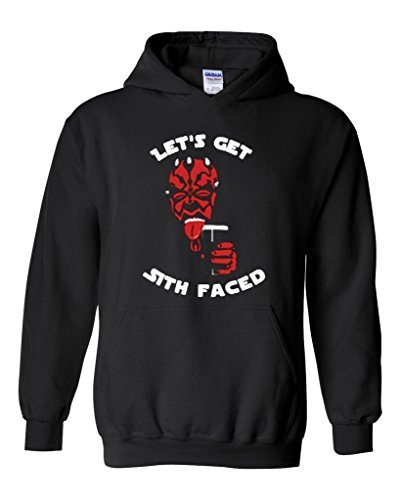 Blue Tees Let`s Get Sith Faced Fashion People Couples Gifts Best Friend Gifts Halloween Party Costume Unisex Hoodie Sweatshirt Medium Black -