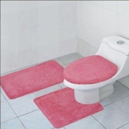 Hailey 3 Piece Bath Rug Set Rose Ehouseholds Com