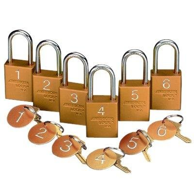 LOCK/TAG SET #1-18 INDIV. BLUEBlue 1 - 18 by Emedco