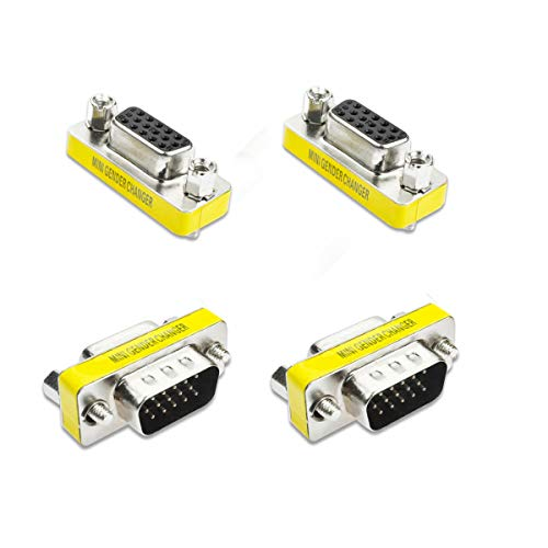 - VGA/SVGA 15pin Gender Changer Adapter Male to Female Cable Extender Connector 4 Pack