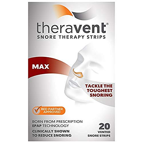 Theravent Snore Therapy Strips, Maximum Strength, Tackle the Toughest Snoring, Bed Partner Approved, 20 - Spray Snoring