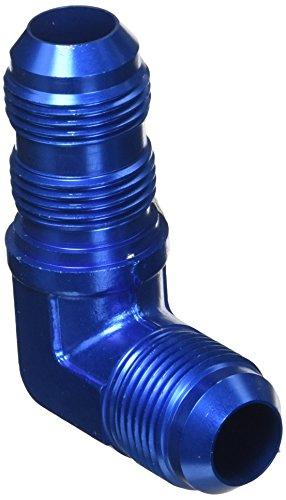 Aeroquip FCM2085 Blue Anodized Aluminum -12AN 90-Degree Bulkhead Union Adapter