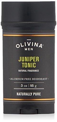Olivina Men Aluminum Free Deodorant, Juniper Tonic, 3 oz. - Aluminum Stain