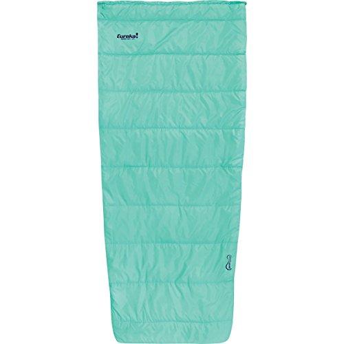 Eureka! Kiewa Women's 40-Degree Semi-Rectangular Mummy Sleeping Bag, Summer Season, Light Blue