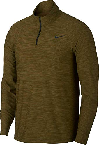 Nike Men's Breathe Quarter Zip LS Top (X-Large, Olive Canvas)