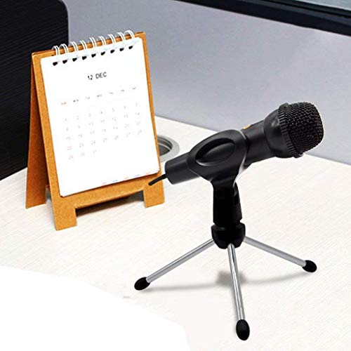 boka LXCN®, Flexible Microphone Mic Stand | Studio Sound Recording | Great use at The Conference Room, Desk, Church, and Other Public Place with Metal Base Mic Clip [ Color – Black ].