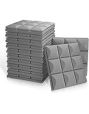 "12 Pack Set 2"" X 12"" X 12"" Acoustic Foam Panels, 9 Block Mushroom Design"