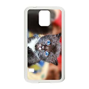 The Cat With Blue Eyes Hight Quality Plastic Case for Samsung Galaxy S5