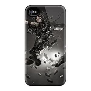 Snap-on Breaking Lady Case Cover Skin Compatible With Iphone 4/4s