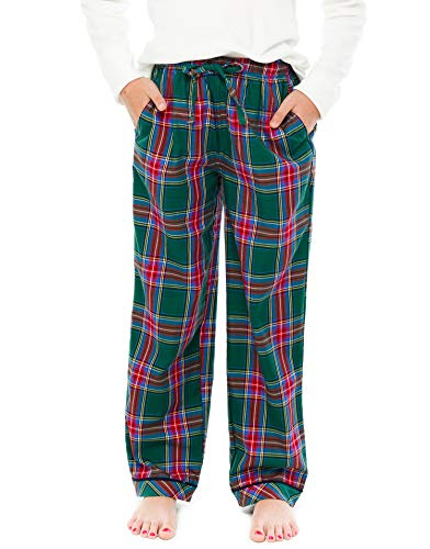 (TINFL Girls Plaid Check Soft 100% Cotton Lounge Pants)