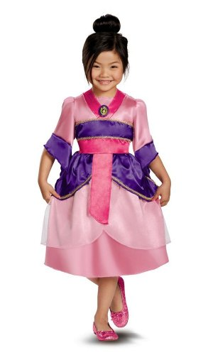 Mulan Sparkle Kids Costume - (Disney Mulan Halloween Costume)