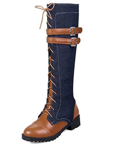 HiTime Donna Winter Stivali Brown Western nTwqwYxXU