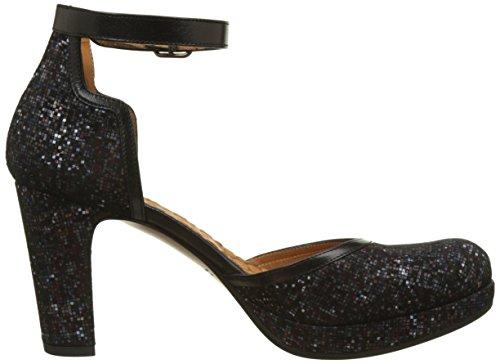 Chie Mihara Taro, Laccetto Alla Caviglia Donna Noir (Tweet Multi-tailu Negro)