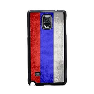 Insomniac Arts - Flag of Russia, Russian - Case for Samsung Galaxy Note 4 - Black Plastic