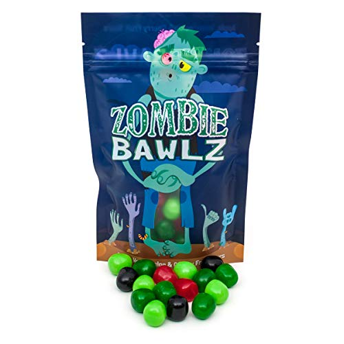 10% OFF! (Reg. Price $9.95) | Zombie Bawlz Fruit Chews Candy | Perfect Zombie Lover Gift or Stocking Stuffer! | Kosher | Gluten Free | Apple, Cherry and Watermelon