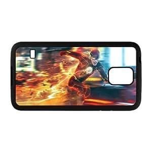 Samsung Galaxy S5 phone case the flash Hard Case Black 07