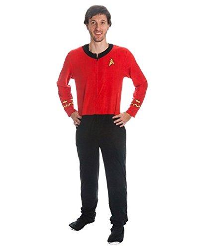 Star Trek Men's Red Uniform Union Suit (Adult Large)