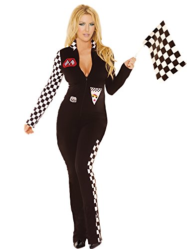 [Sexy Car Race Driver Women's Costume Jumpsuit Plus Size 3x/4x (1x/2x)] (Sexy Black Race Car Driver Costumes)