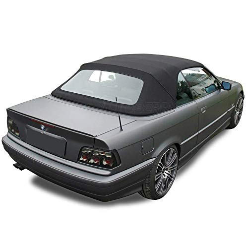- Fits: BMW E36 3 series convertible top with plastic window Black Stayfast Cloth 1994-1999 (Black)