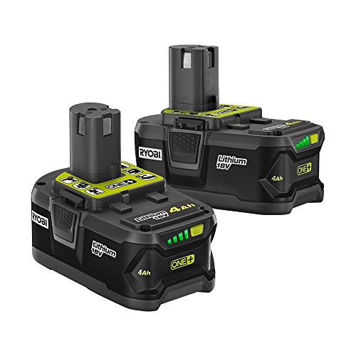 Ryobi 18-Volt ONE+ Lithium-Ion 4.0 Ah High Capacity Battery (2-Pack) - Capacity Lithium Ion Battery