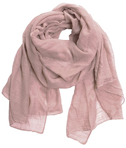 KMystic Large Plain Solid Viscose Scarf (Rose - Brown Scarf Viscose
