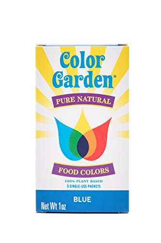 Color Garden Pure Natural Food Colors, Blue 5 ct by COLOR GARDEN