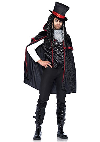 Leg Avenue Men's 3 Piece Classic Vampire Costume, Black, Large