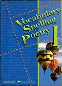 A Beka Book SPELLING VOCABULARY and POETRY 6 homeschooling teacher edition FREE SH