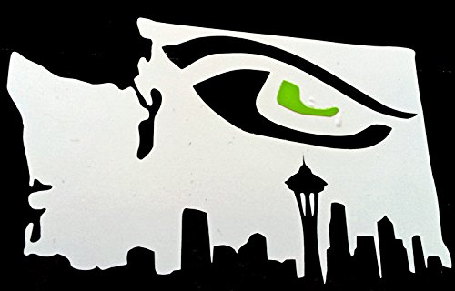 white-vinyl-washington-state-with-skyline-bottom-and-green-hawk-eye-inside-window-and-wall-decal-sea
