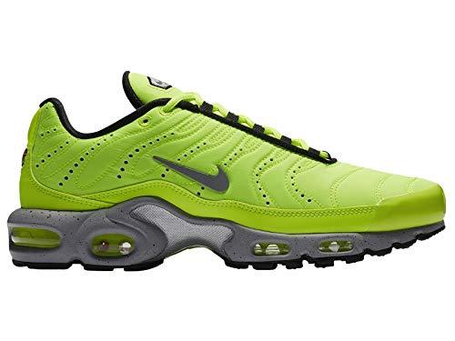 Air Volt - Nike Men's Air Max Plus PRM, Volt/Matte Silver-Wolf Grey, 10.5 M US