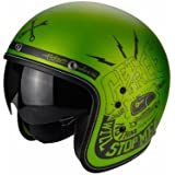 Scorpion Casco Moto Belfast Fender, Green/Black, L