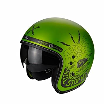 Scorpion Casco Moto Belfast Fender, Green/Black, XS