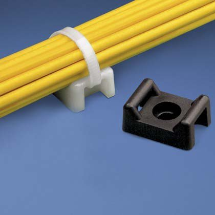 InstallerParts Cable Tie Mount 22mm -- White – 100 Piece - Outlet Black Apple Factory
