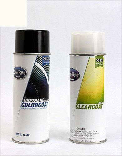 ColorRite Aerosol Automotive Touch-up Paint for BMW All - Alpine White II 218 - Color+Clearcoat Package