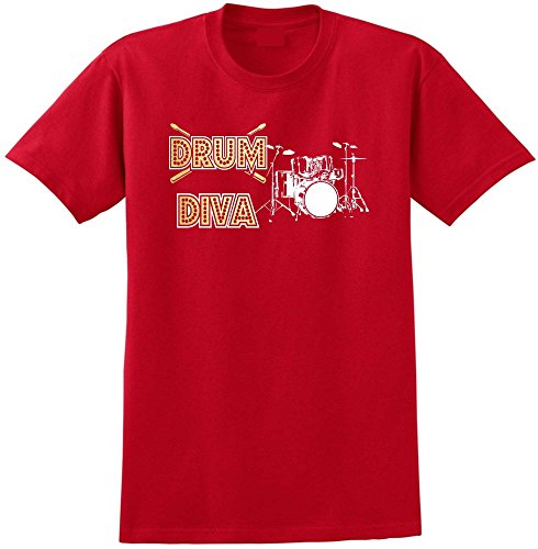 Drum Kit Diva Spots - Red Rot T Shirt Größe 87cm 36in Small MusicaliTee