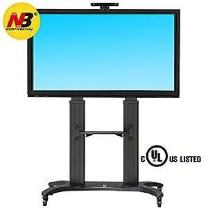 north bayou tv stand for flat screens 55 80 inch lcd led oled plasma flat panel. Black Bedroom Furniture Sets. Home Design Ideas