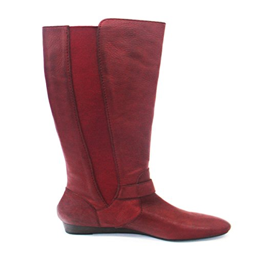Lucky Marke Pull auf Kniehohe Stiefel Rot